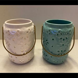 Accents - SOLD-Ceramic Candle Lanterns
